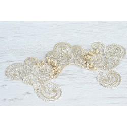 Ivory bride lace veil