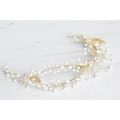 Bridal flower crystal halo