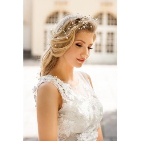 Bridal pearls halo