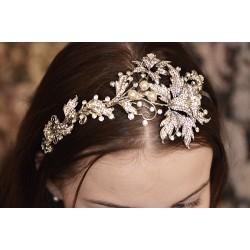 Handcrafted bridal hair headband