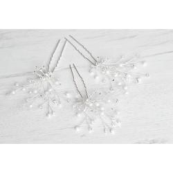 Bridal crystals hairpins