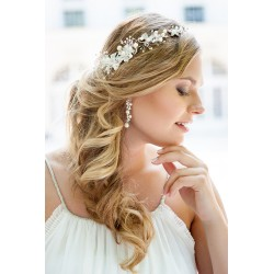 Bridal flower crystal halo