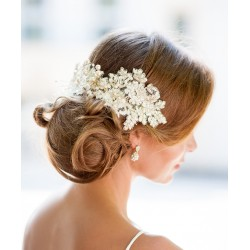 Ivory lace bride fascinator
