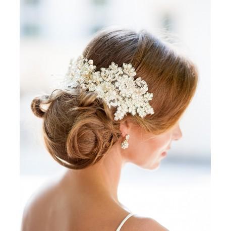 Ivory lace bride fascinator