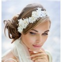 Wedding lace halo