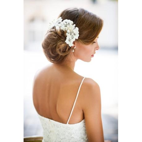 Wedding lace hair vine