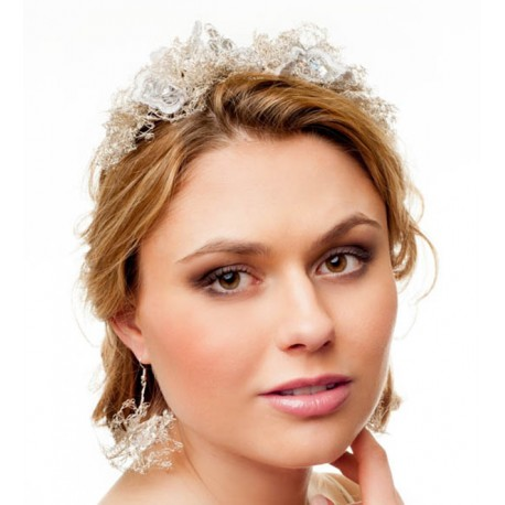 Unique crocheted wedding headband
