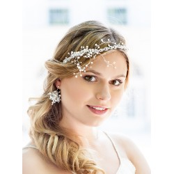 Wedding headband ribbon