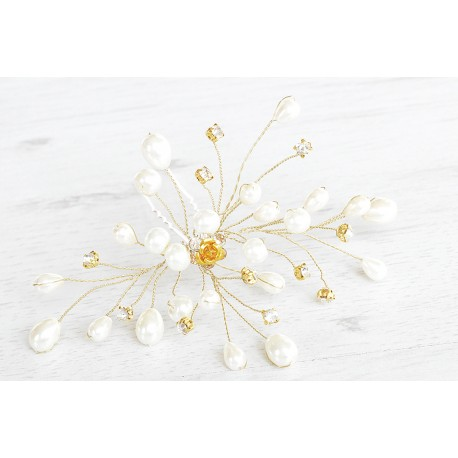 Handmade wedding pearls hairpins