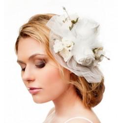 Bridal floral hair accessory