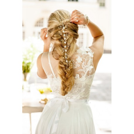 Hair vine halo for bride