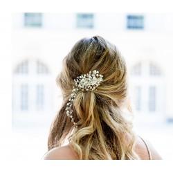 Handmade pearls vine hair piece
