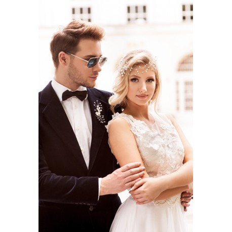 Bride and groom jewelry set