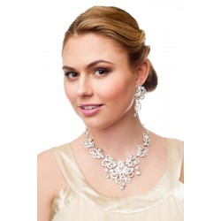 Chunky bridal necklace set