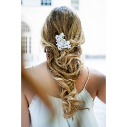 Bridal vintage lace hair piece