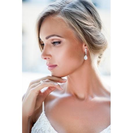 Bridal crystal earrings