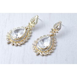 Bridal crystal earrings
