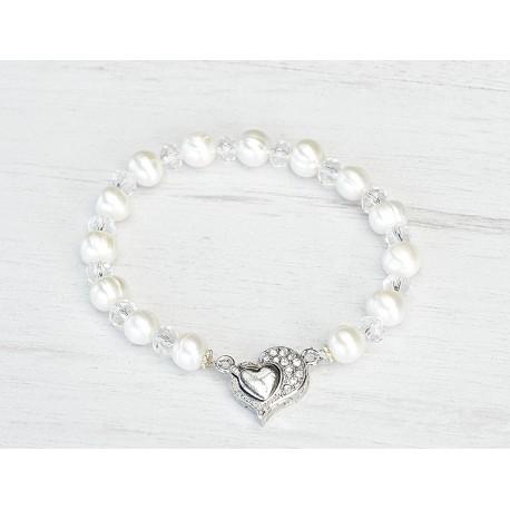 Classic wedding pearls bracelet