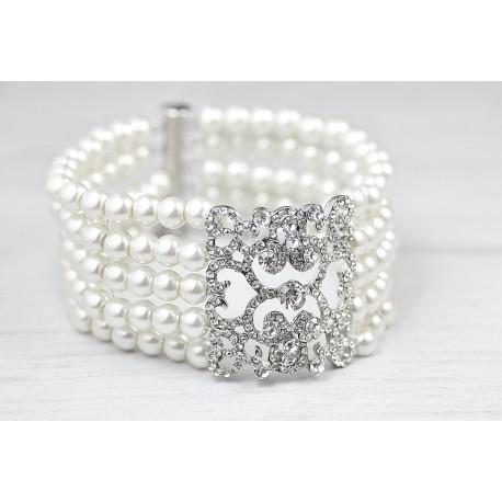 Handmade bridal charm bracelet