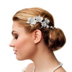 Vintage inspired crystal wedding comb
