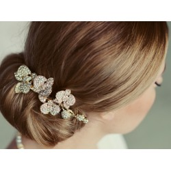Gold bridal hair piece