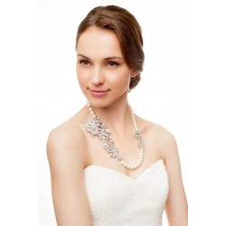 Vintage style bridal handmade necklace