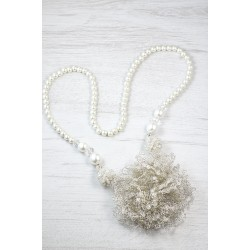 Long crystal wedding necklace
